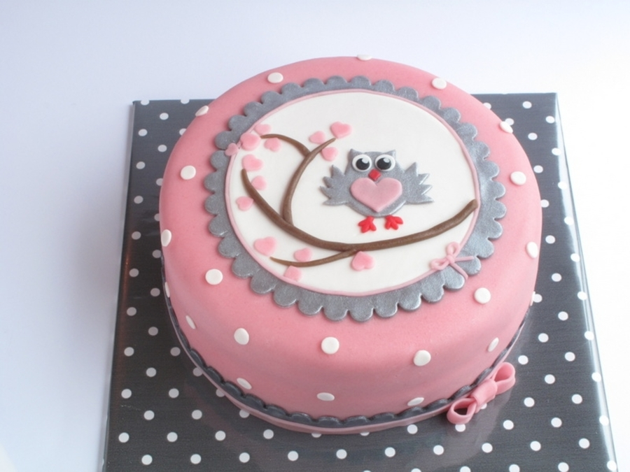 Little Owl On A Branch  on Cake Central
