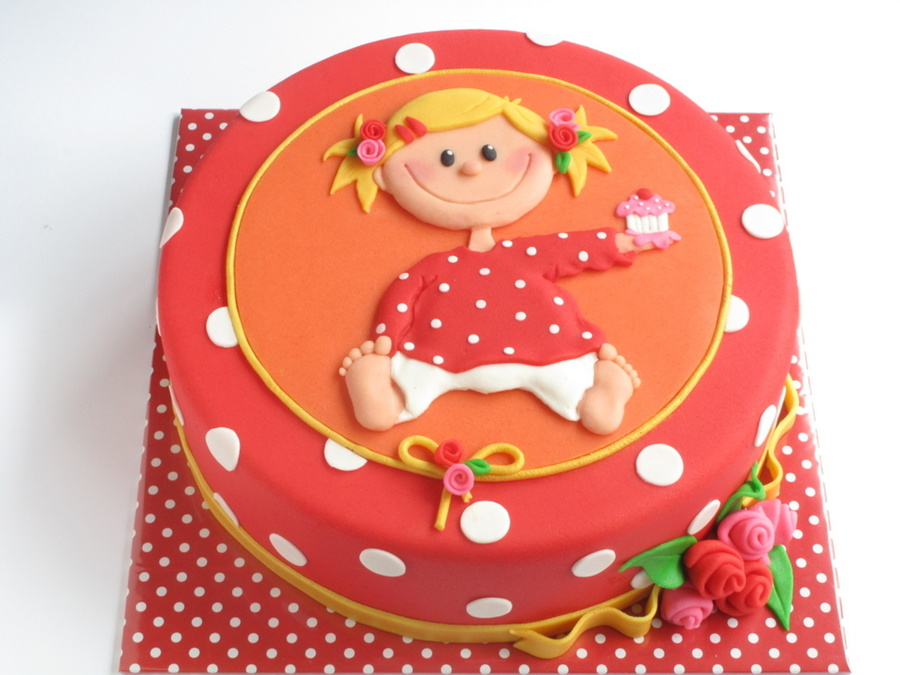 Girl In Dotty Shirt on Cake Central