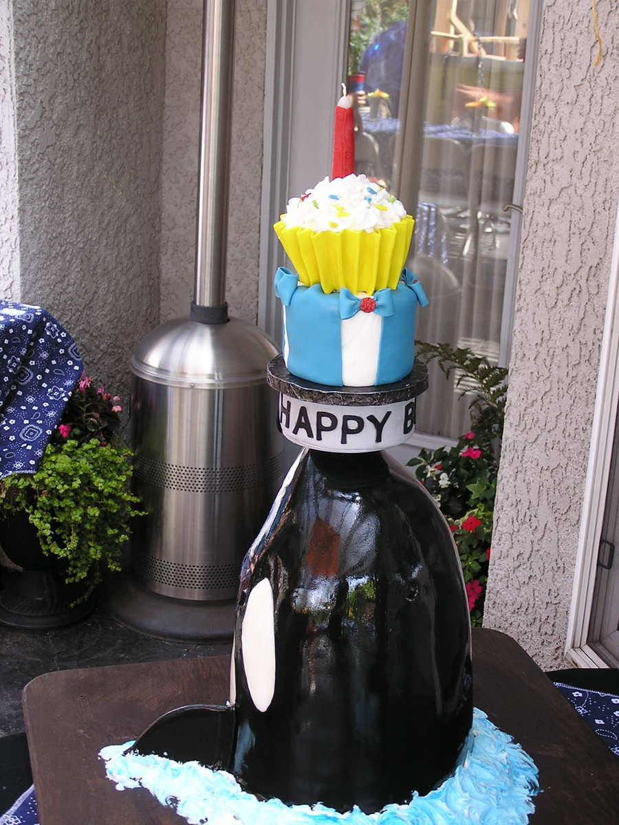 Orca With Rotating Topper Cakecentral Com
