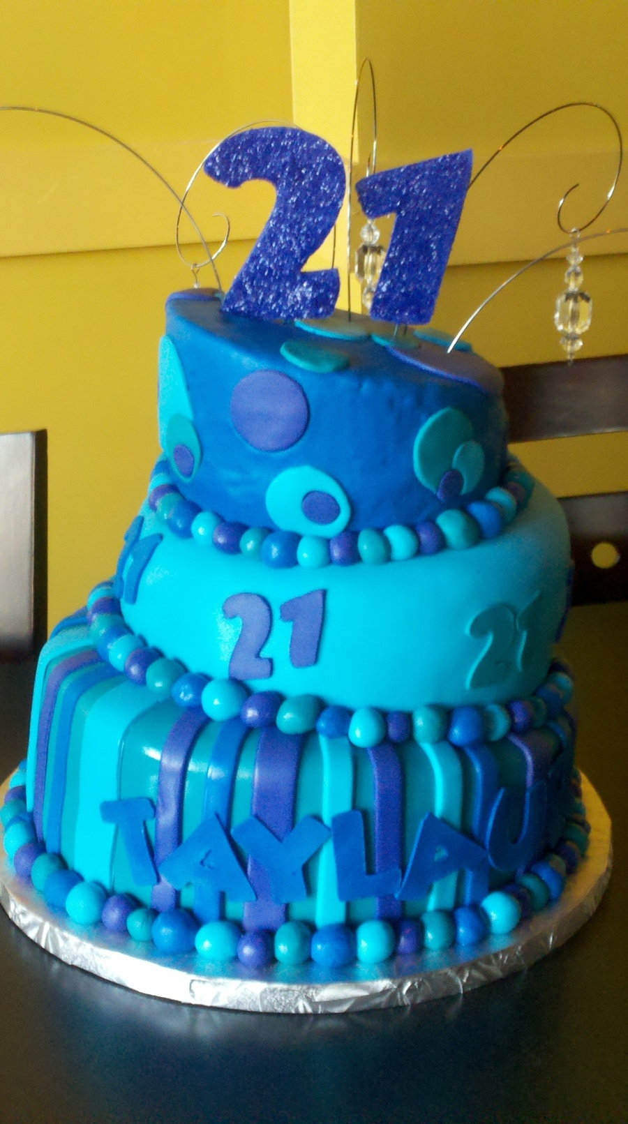 21St Topsy Turvy on Cake Central