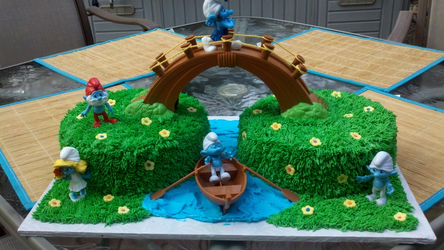 Smurf Bridge Cake Cakecentral Com
