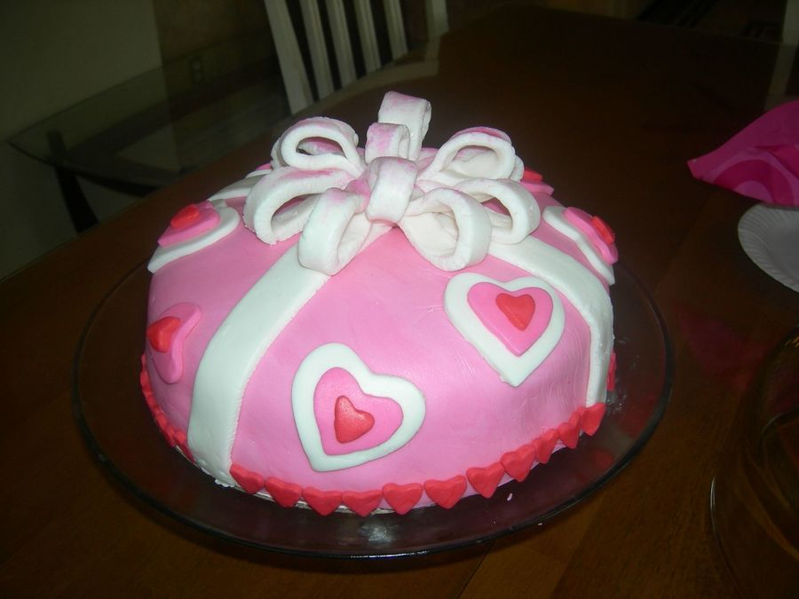 Valentines Heart Cake on Cake Central