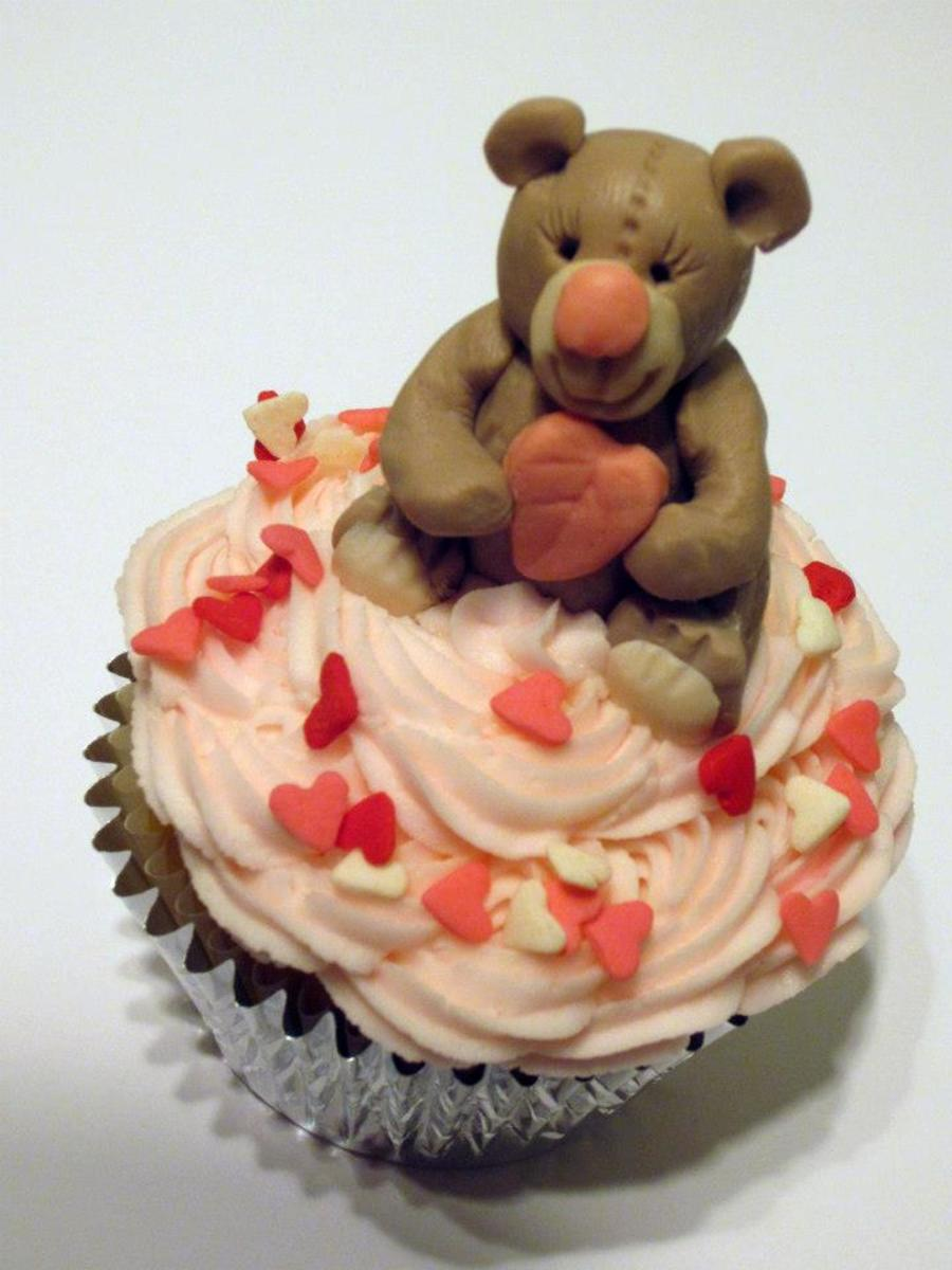 Teddy Bear Cupcake on Cake Central