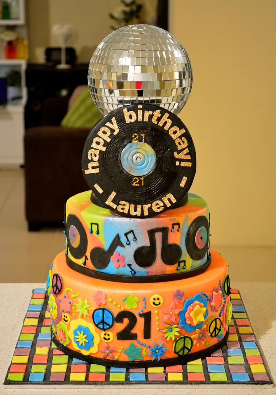 70s Hippydisco Birthday Cake Cakecentral