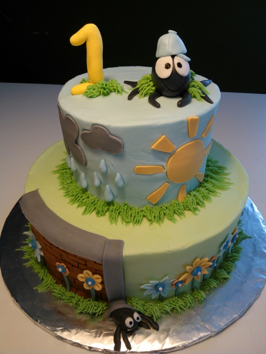 Itsy Bitsy Spider  on Cake Central