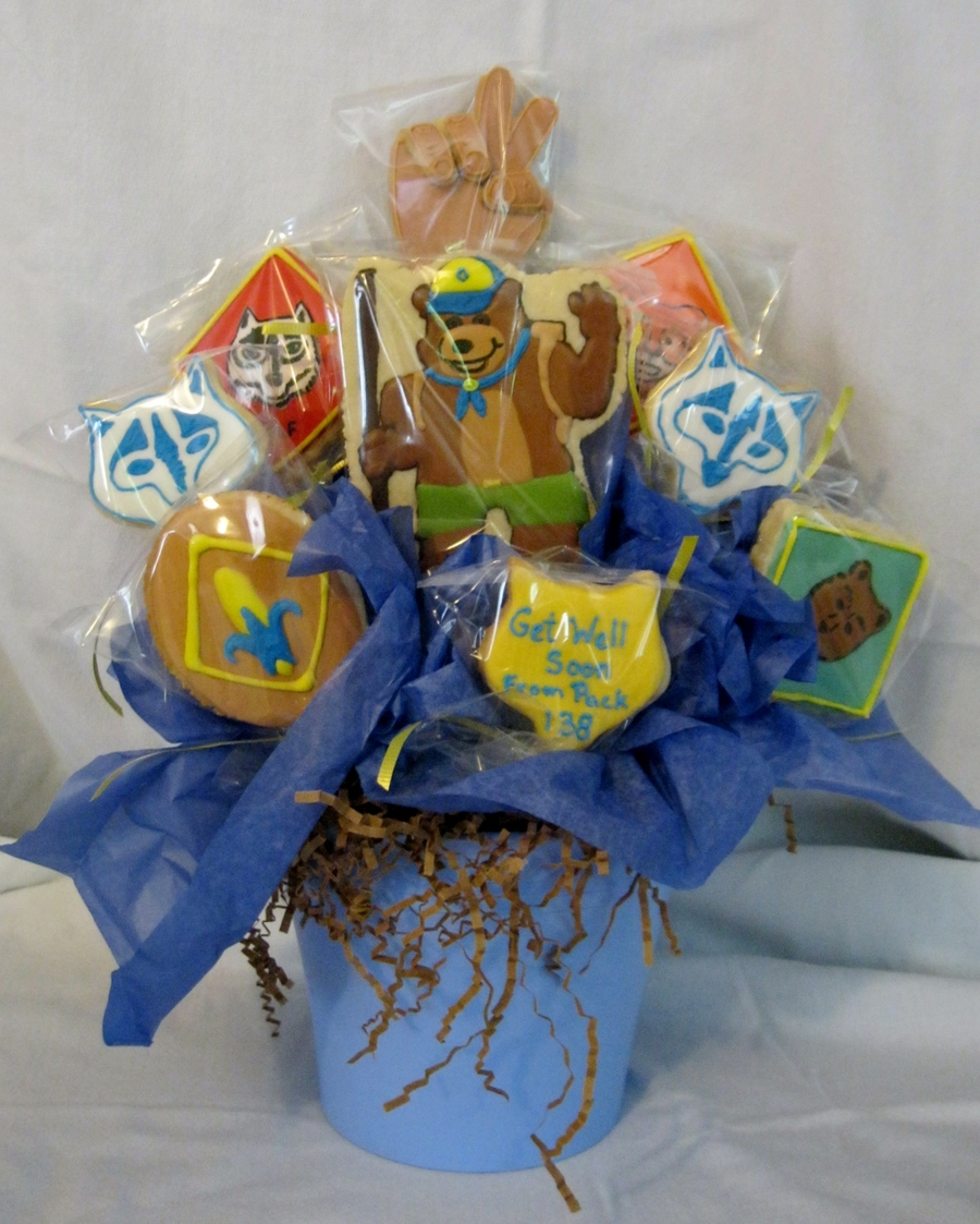 Cub Scout Cookie Bouquet  on Cake Central