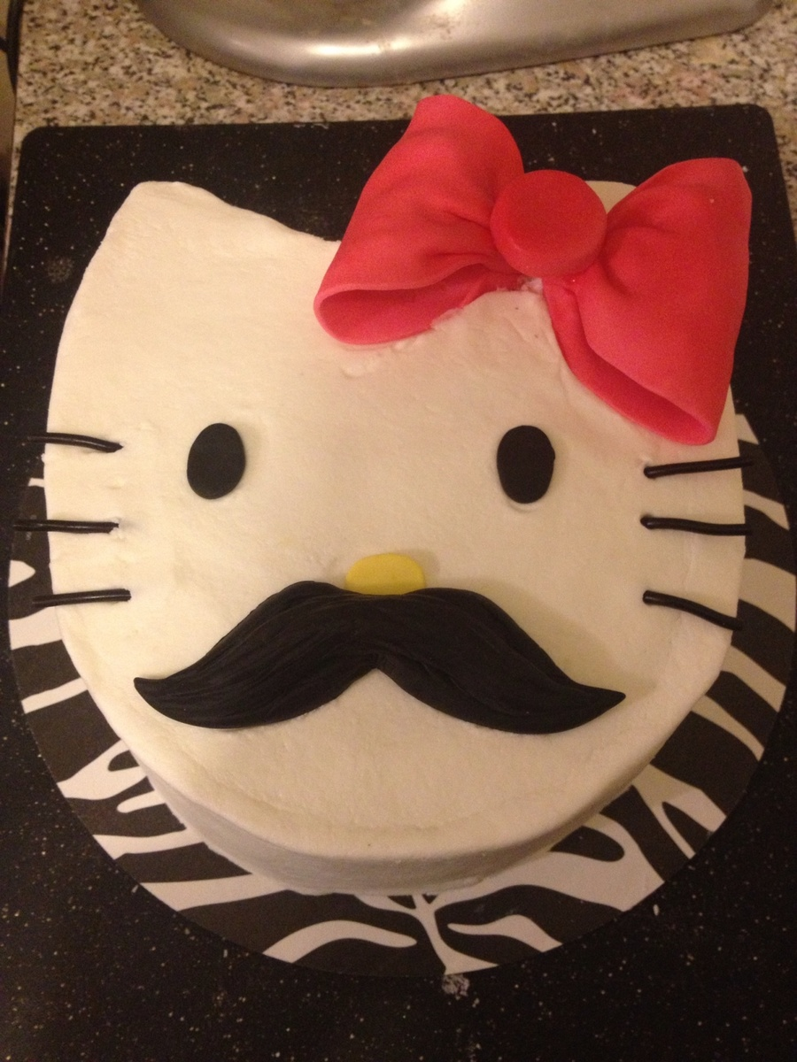 Hello Kitty With Flare The Cake Is Covered In Buttercream And The Decor Is Fondant And Gum Paste The Whiskers Are Licorice The Interior on Cake Central