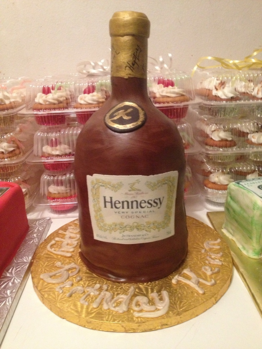 My 1St Bottle Cake Red Velvet Cake The Neck Is Rice Krispie Treats Bottle Covered On Fondant Label Is Edible Paper Tfl on Cake Central