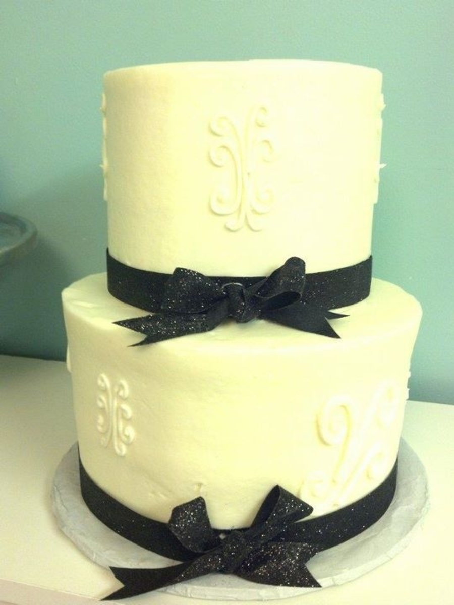 Simple Wedding Cake on Cake Central