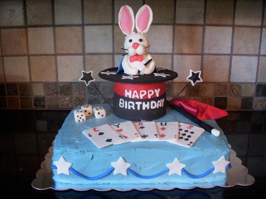 Enjoyable Magic Show Birthday Cake Cakecentral Com Funny Birthday Cards Online Kookostrdamsfinfo