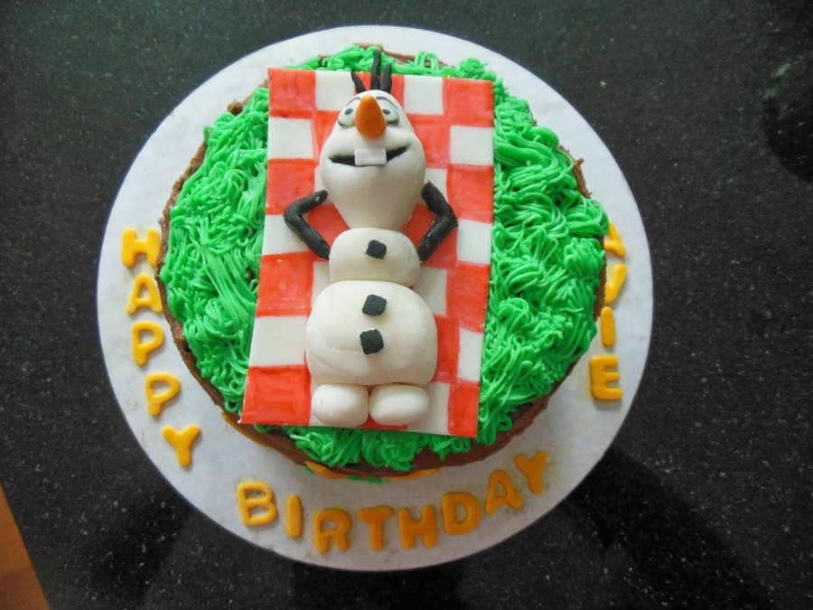 Marvelous Olaf Birthday Cake Cakecentral Com Personalised Birthday Cards Paralily Jamesorg