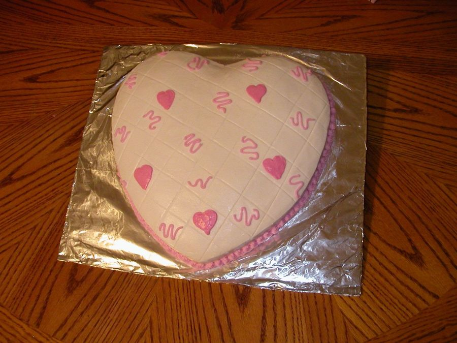 Pink Hearts on Cake Central