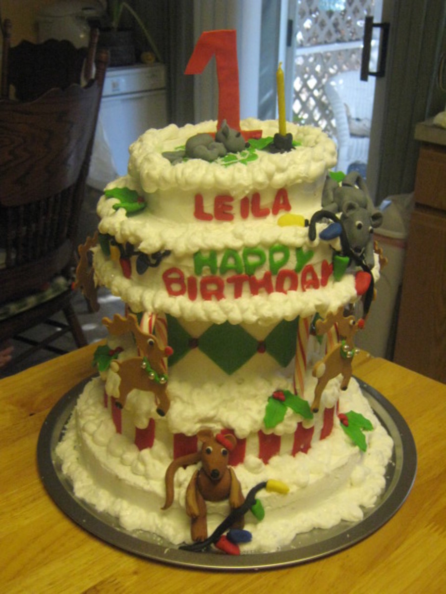 First Birthday At Christmas Time  on Cake Central