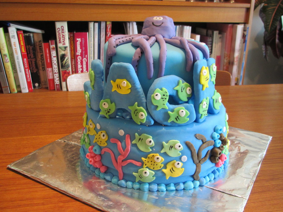 Fish Theme Birthday Cake Cakecentral