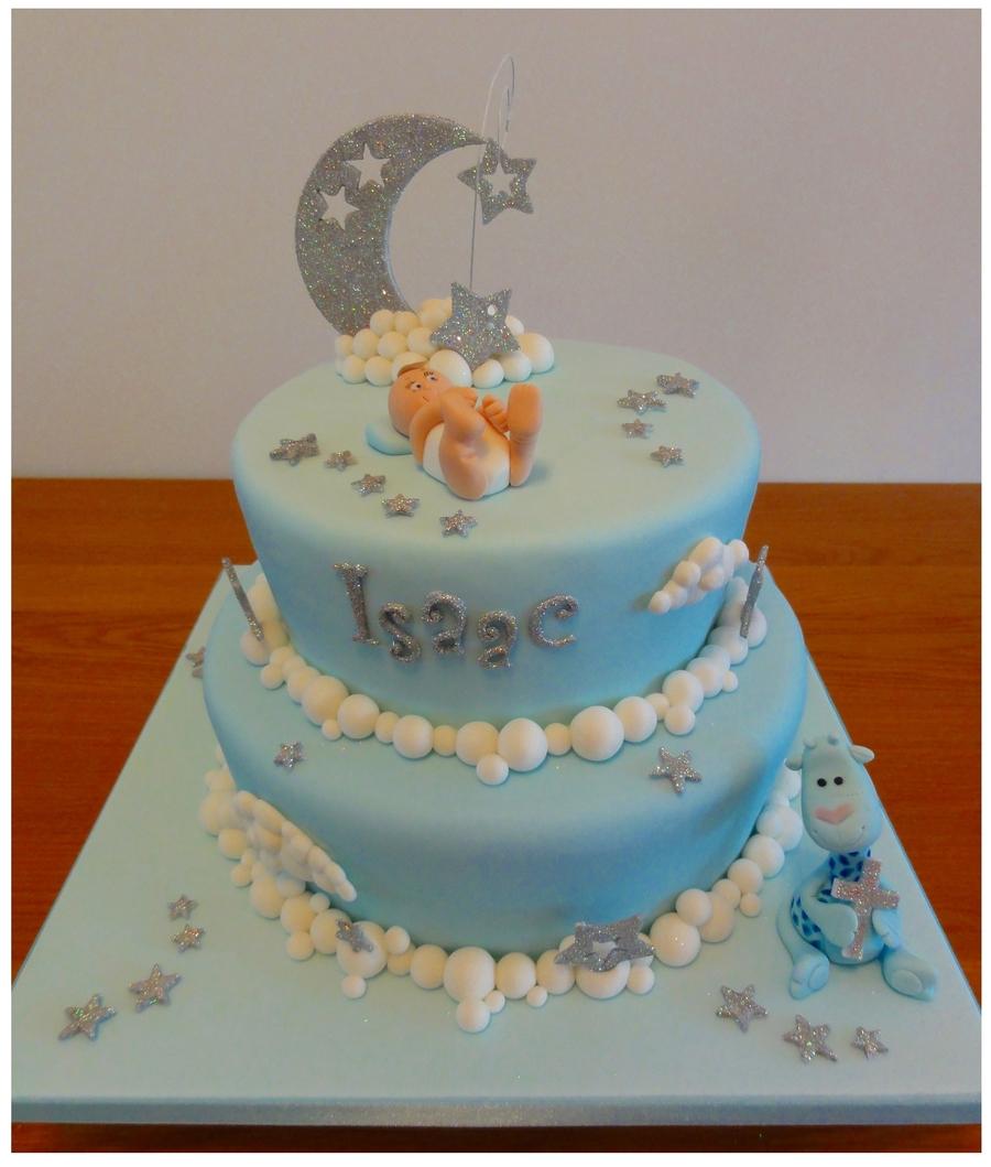Baby Blue Fondant Cake