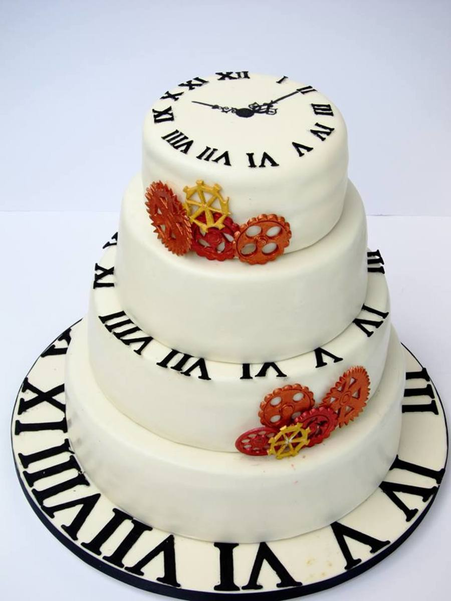 Clock / Time Wedding Cake on Cake Central