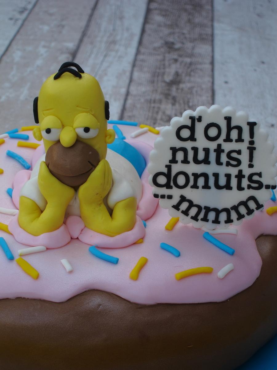 Strange Homer Simpson Birthday Cake Cakecentral Com Funny Birthday Cards Online Sheoxdamsfinfo