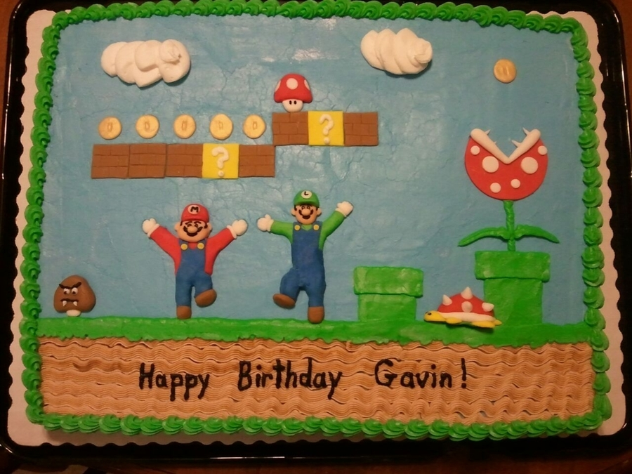 Remarkable Super Mario Bros Birthday Cakecentral Com Funny Birthday Cards Online Bapapcheapnameinfo