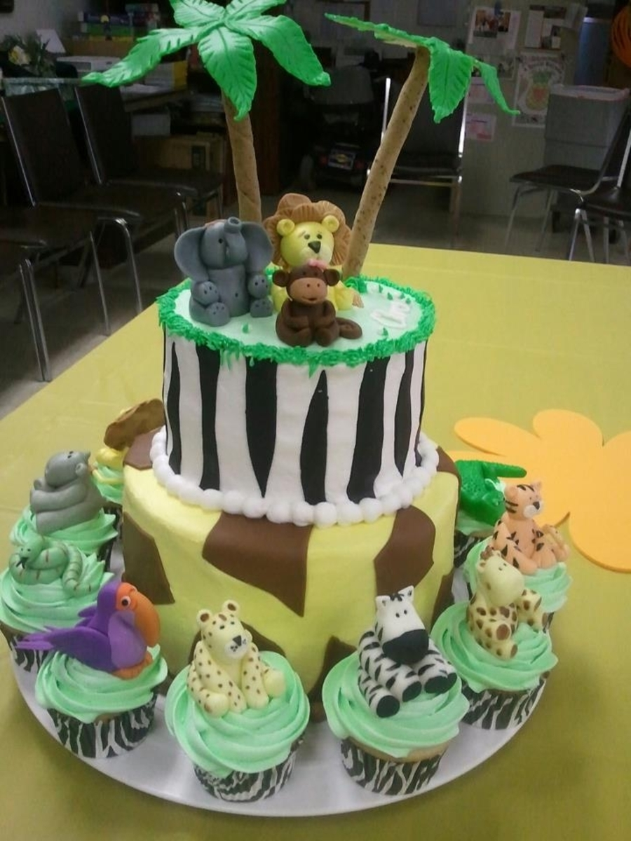 Jungle Safari Baby Shower Cakecentral Com