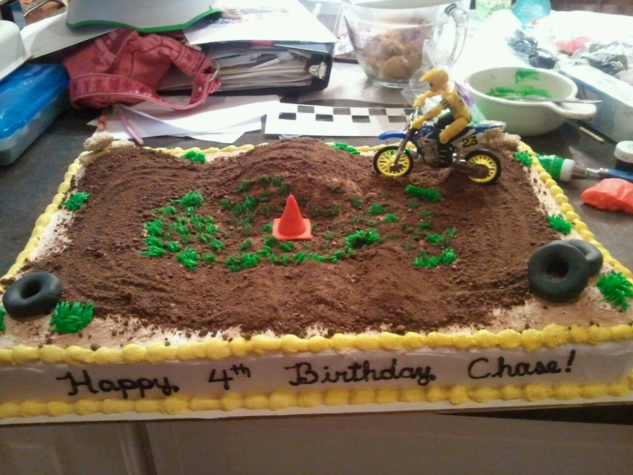 Amazing Dirt Bike Track Cakecentral Com Funny Birthday Cards Online Inifofree Goldxyz