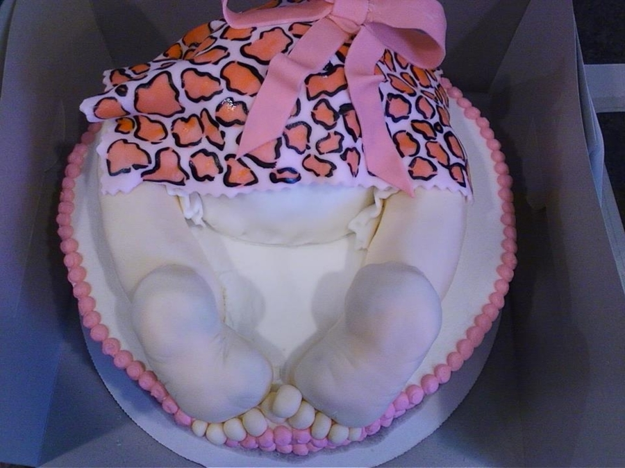 Pink Leopard Baby Rump  on Cake Central