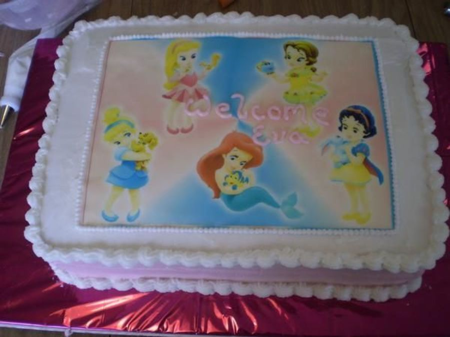 Disney Princess Baby Shower Cake On Cake Central