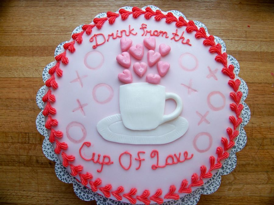 Drink From The Cup Of Love on Cake Central