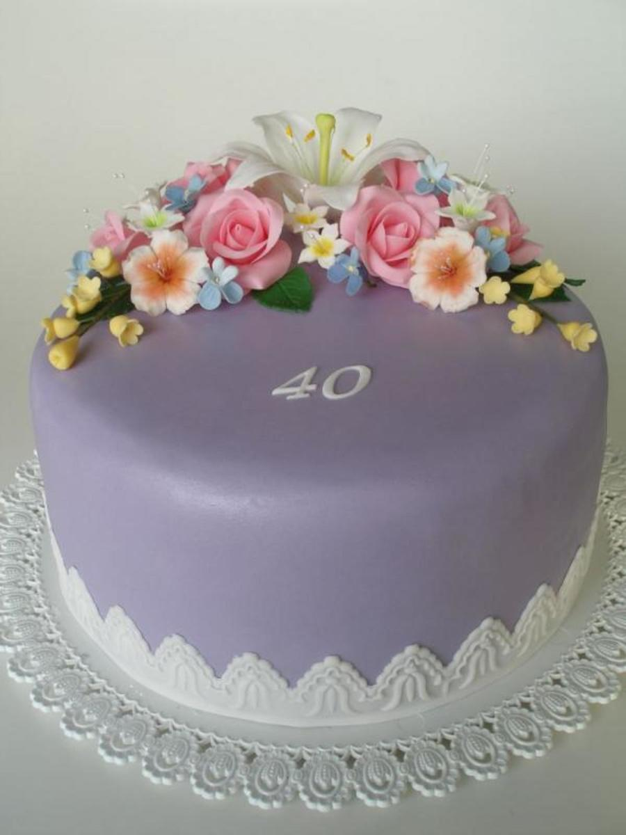 Purple 40S on Cake Central