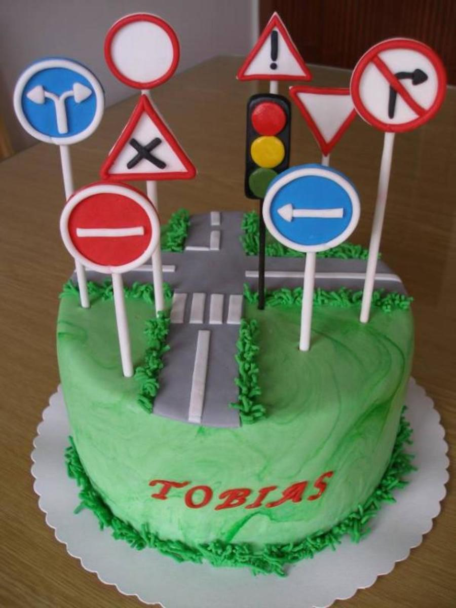 Traffic Signs Cake