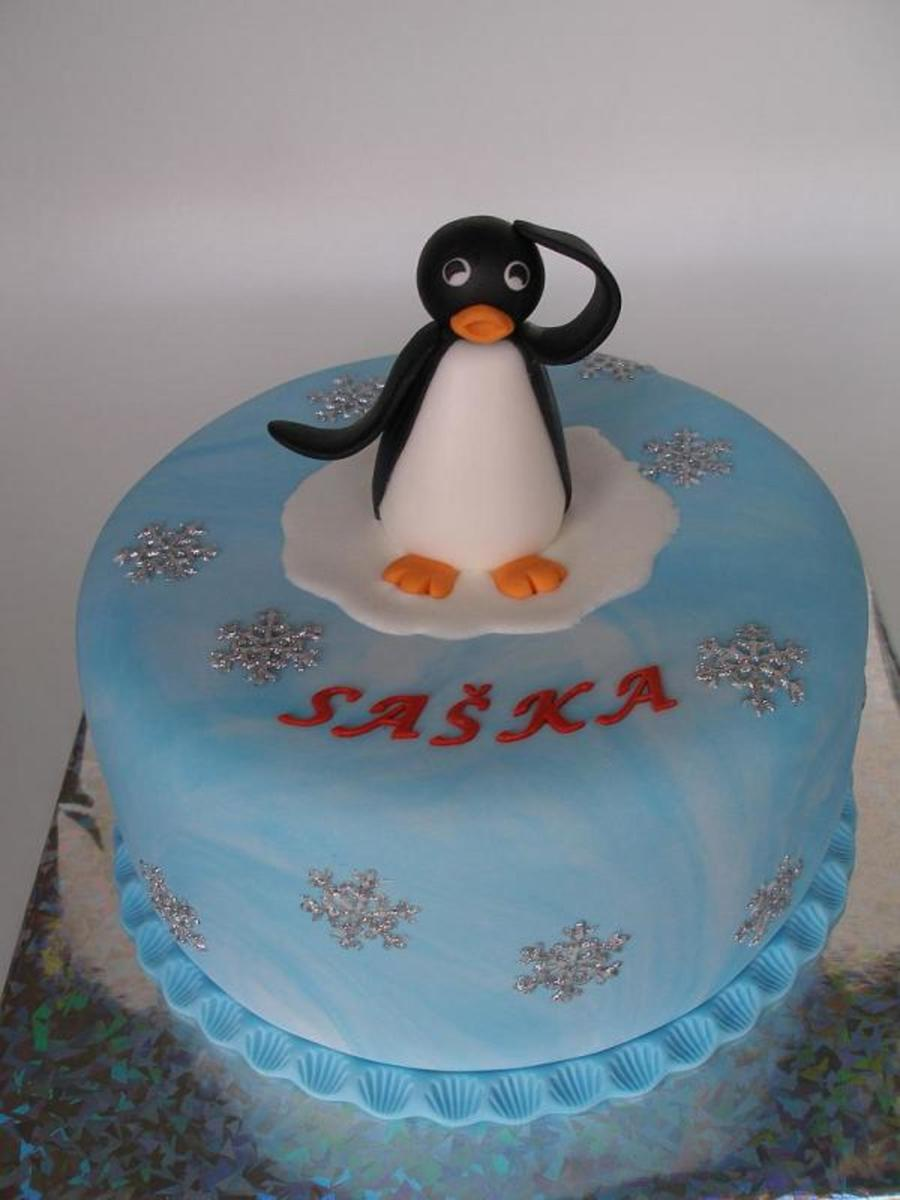 Pingu Thinks Happy Birthday on Cake Central