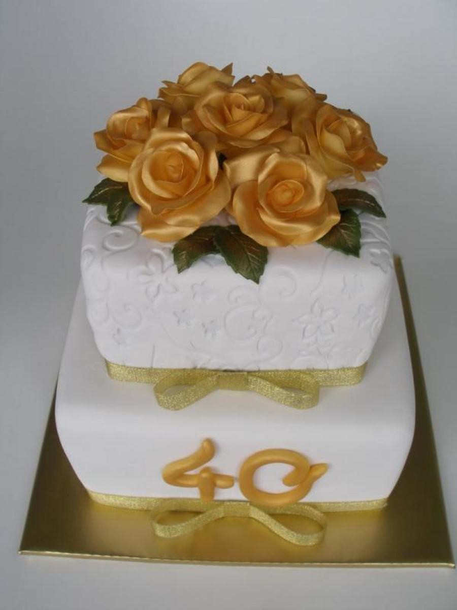 Golden 40Th Birthday on Cake Central