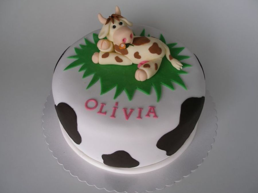 Little Birthday Cow  on Cake Central