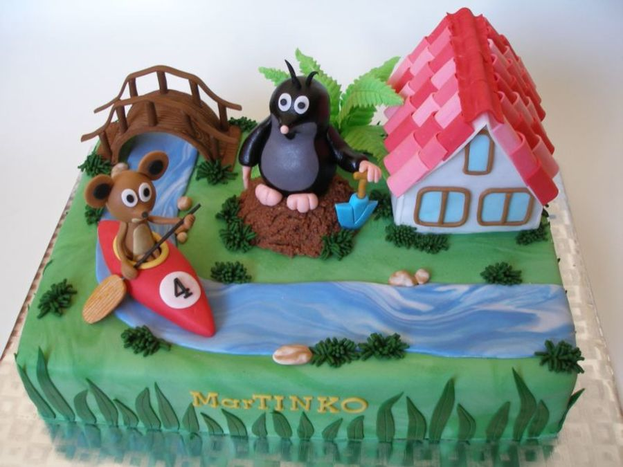 Little Mole And The Water Fun on Cake Central