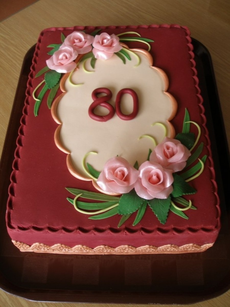 To 80Th Birthday on Cake Central