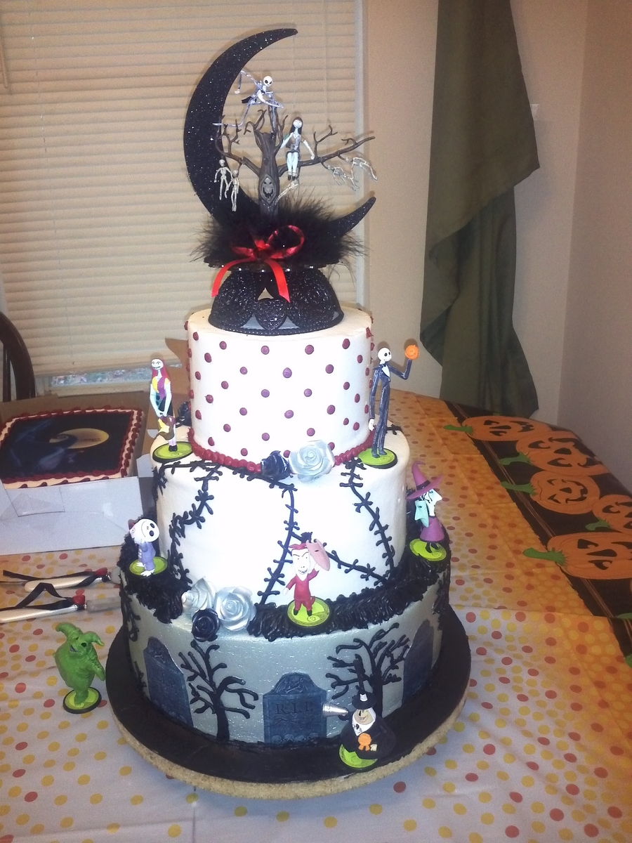 nightmare before christmas wedding cake ideas nightmare before wedding cake cakecentral 17891