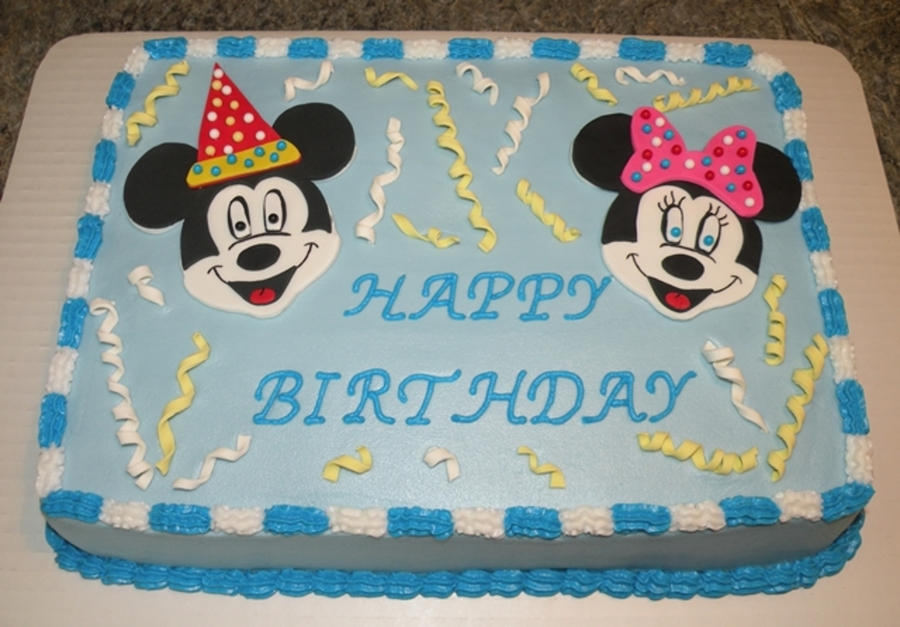 Awe Inspiring Mickey And Minnie Mouse Cake Cakecentral Com Funny Birthday Cards Online Amentibdeldamsfinfo