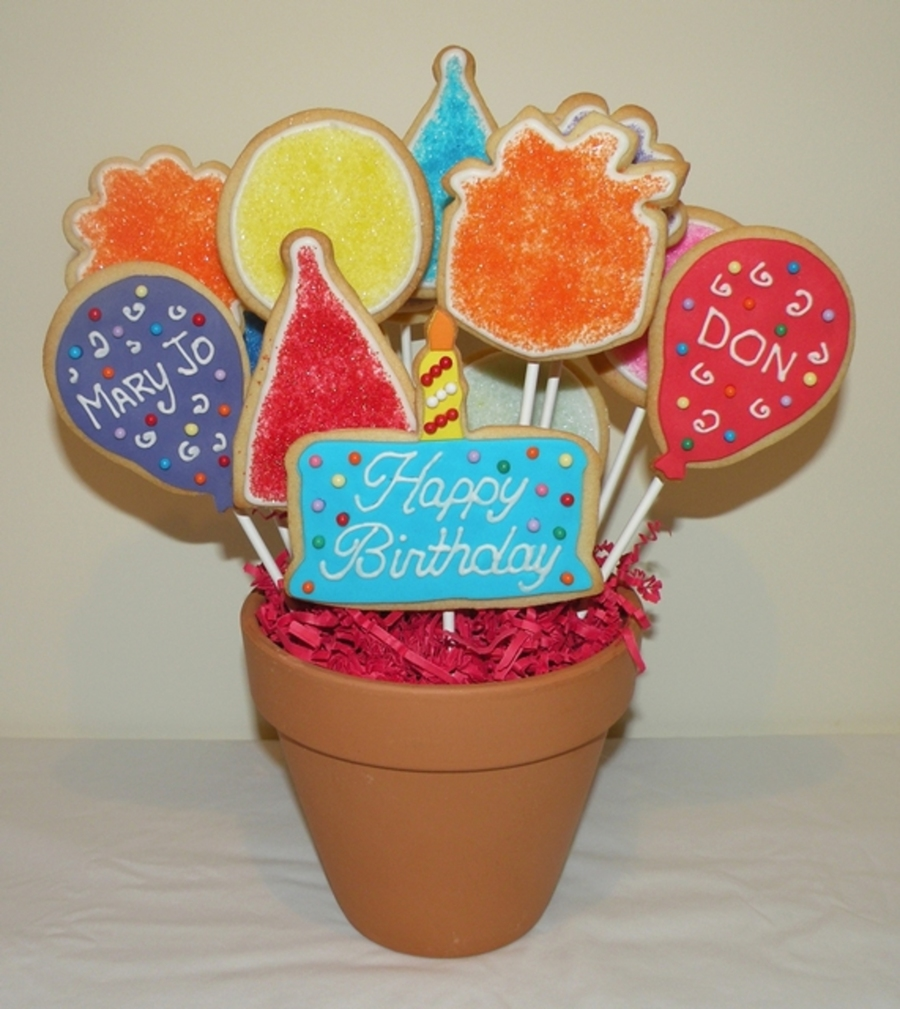 Birthday Cookie Bouquet on Cake Central