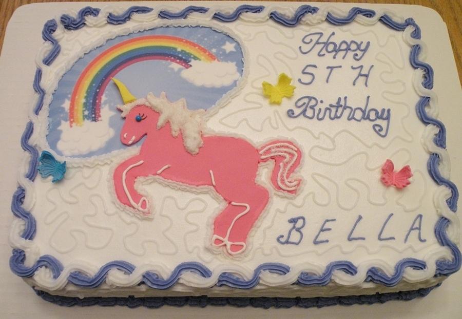 Unicorn And Rainbow Birthday Cake On Central