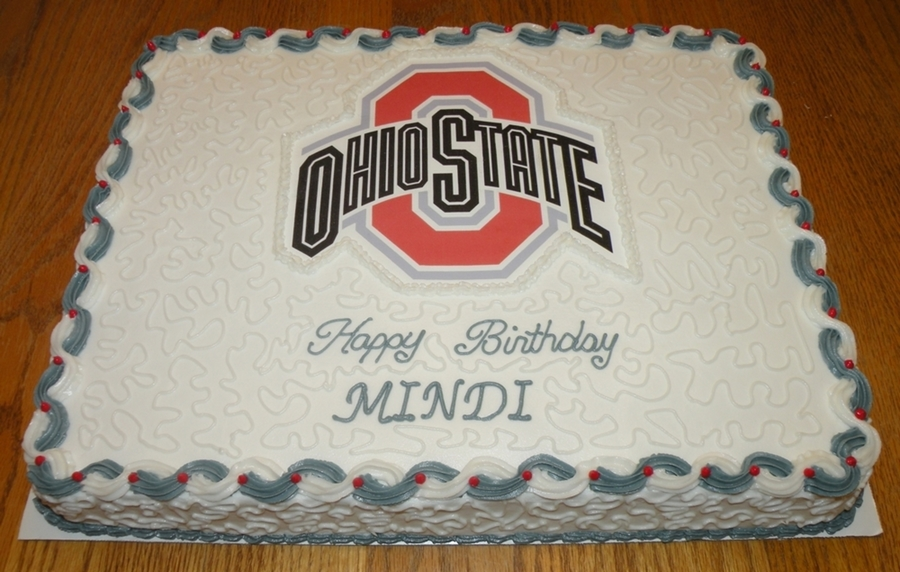 Ohio State University Birthday Cake Cakecentral Com