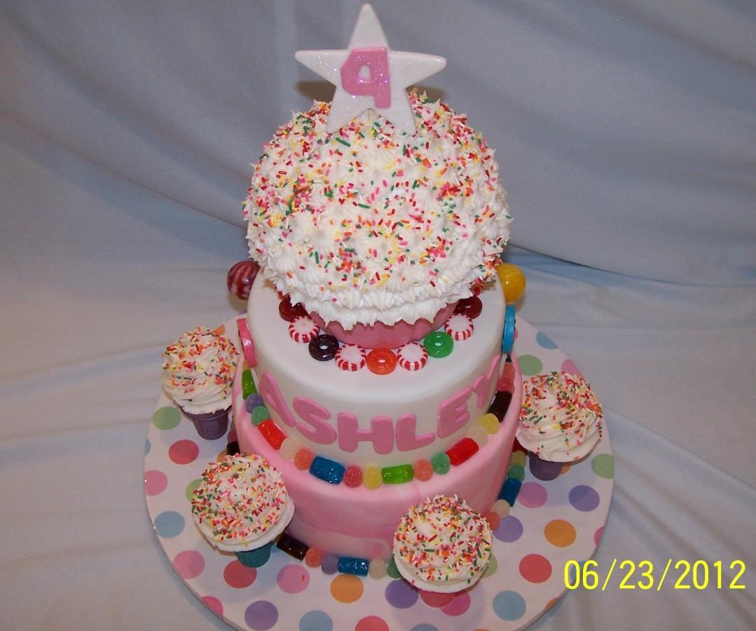 Candyland Ice Cream Cone Birthday Cake CakeCentralcom