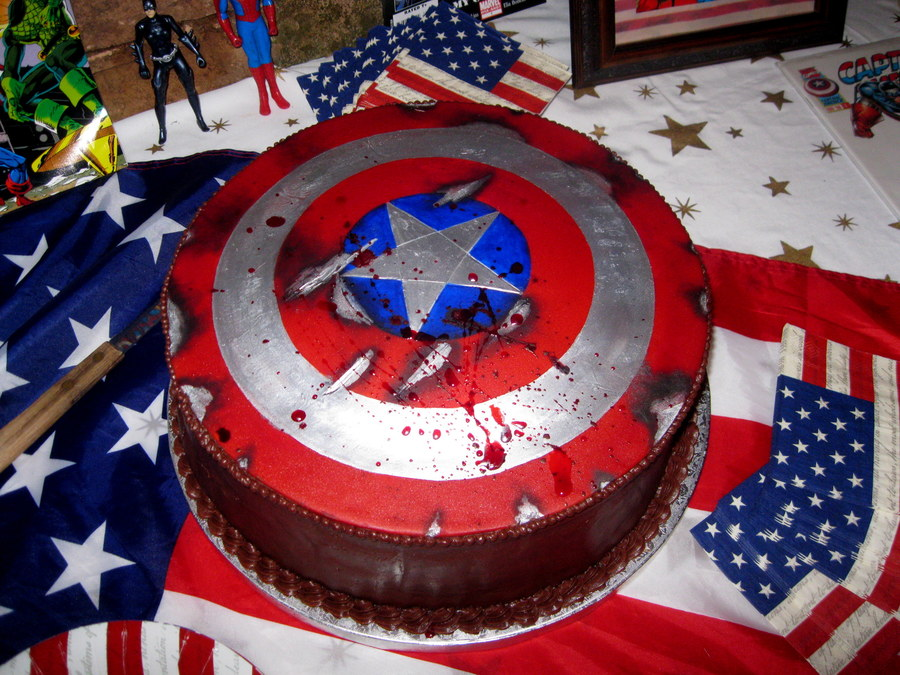 Captain America Shield Cake Images