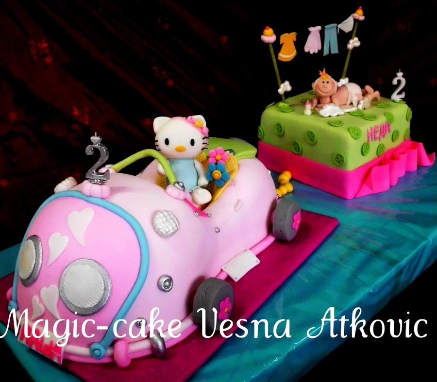 Cake For Two Sisters on Cake Central