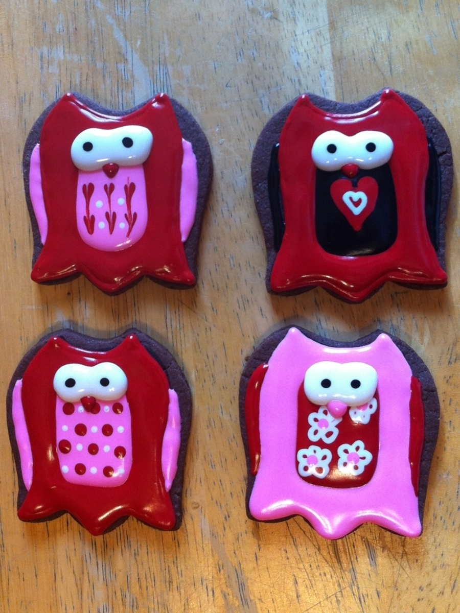 Valentine Owls  on Cake Central