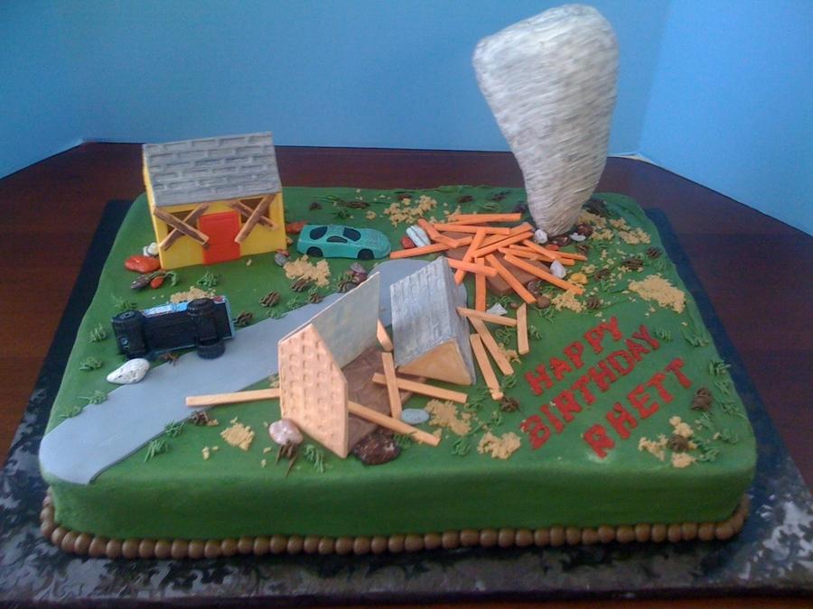 Tornado Birthday Cake - CakeCentral.com