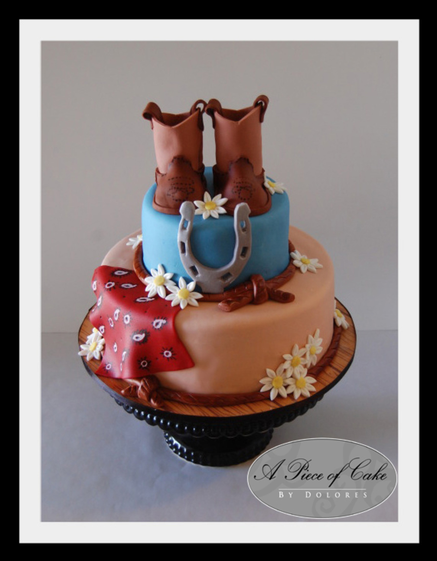 Wondrous Western Birthday Cake Cakecentral Com Birthday Cards Printable Benkemecafe Filternl