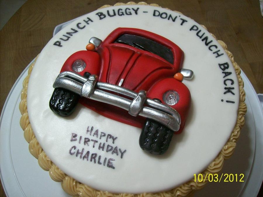 Vw Bug Birthday Cake