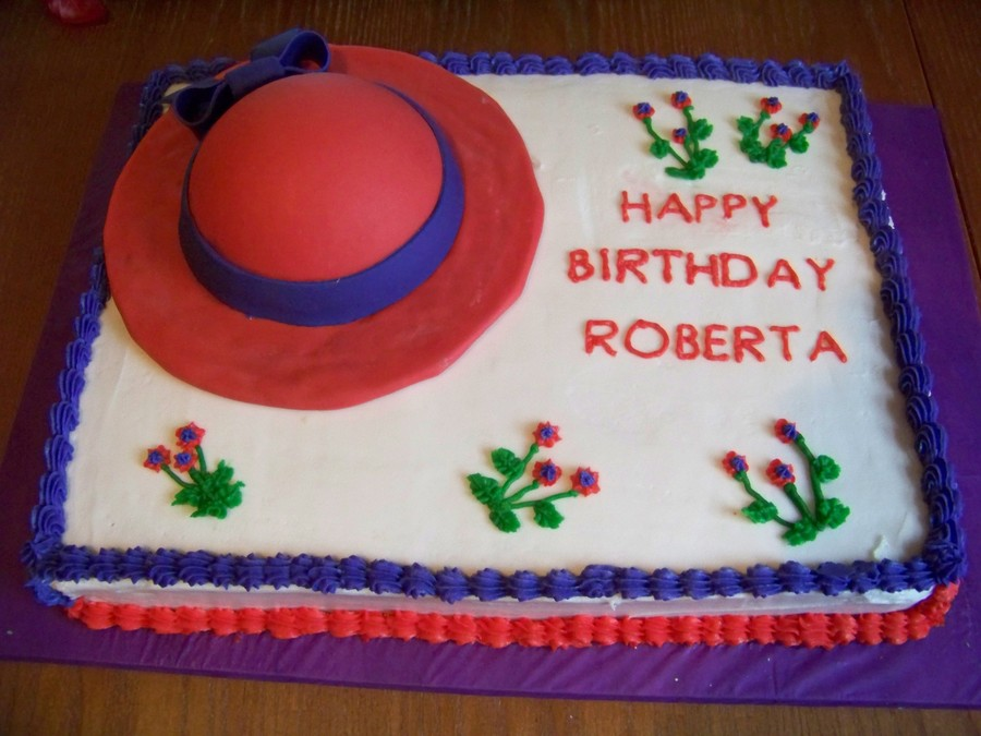 Red Hat Society Cake on Cake Central
