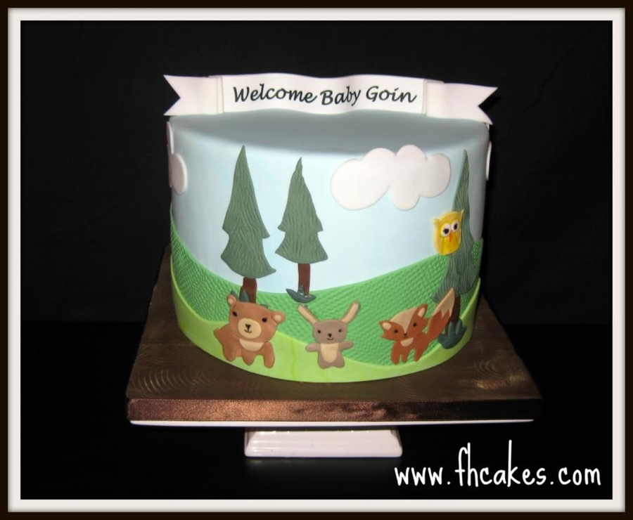 Woodland Creatures  on Cake Central