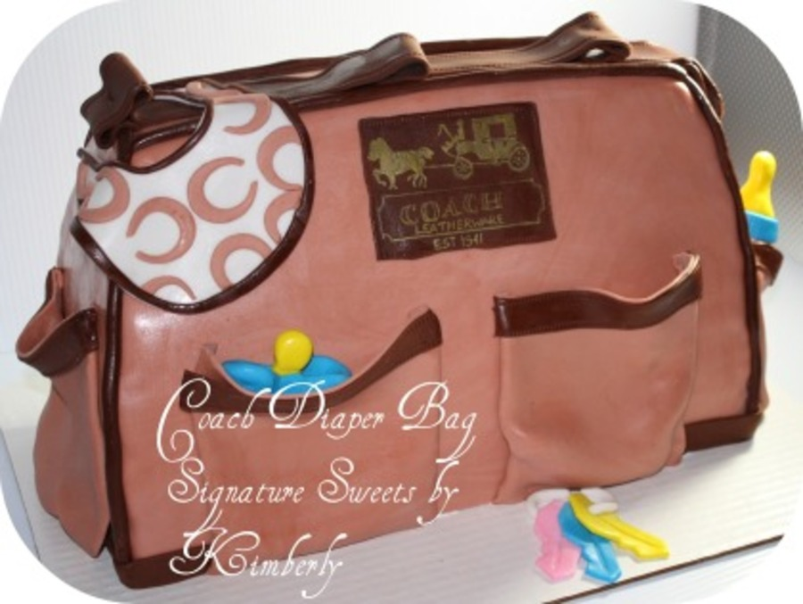 Coach Diaper Bag on Cake Central