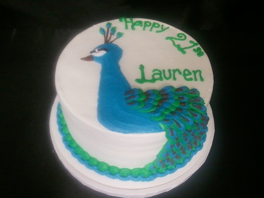 Buttercream Peacock on Cake Central